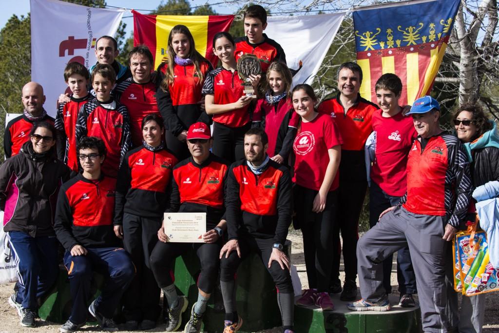 Subcampeones de la Liga Autonómica de Orientación por equipos